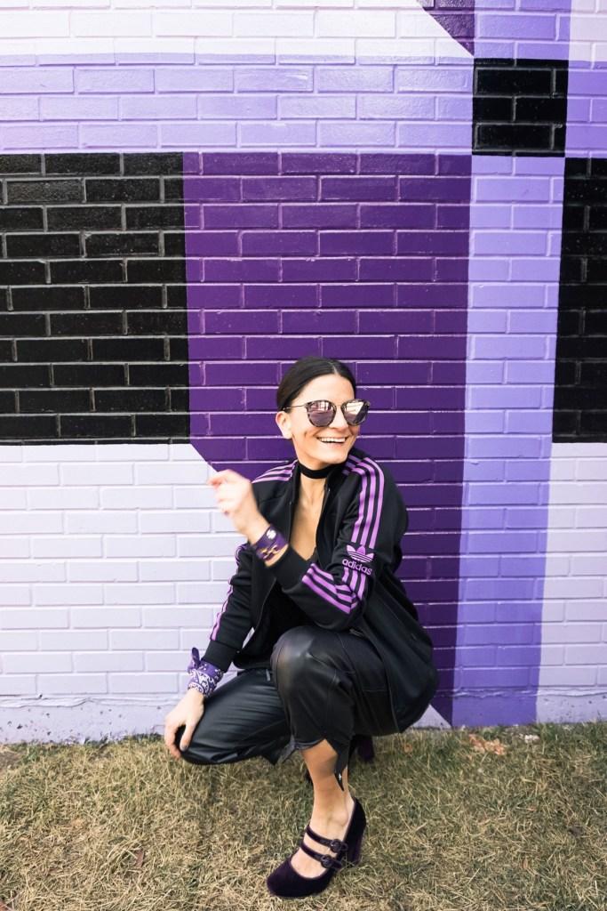 purple adidas