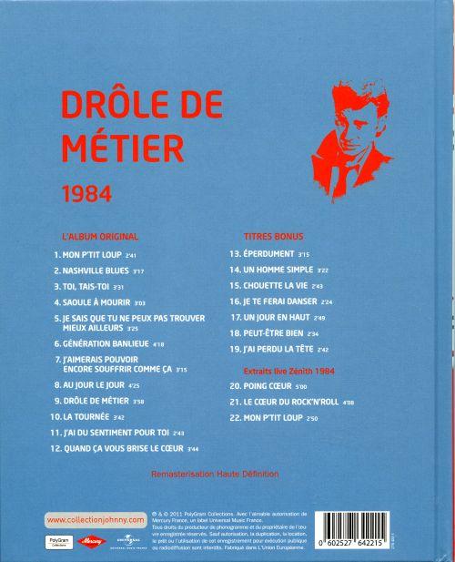 Johnny Hallyday - Drôle De Métier : chansons et paroles