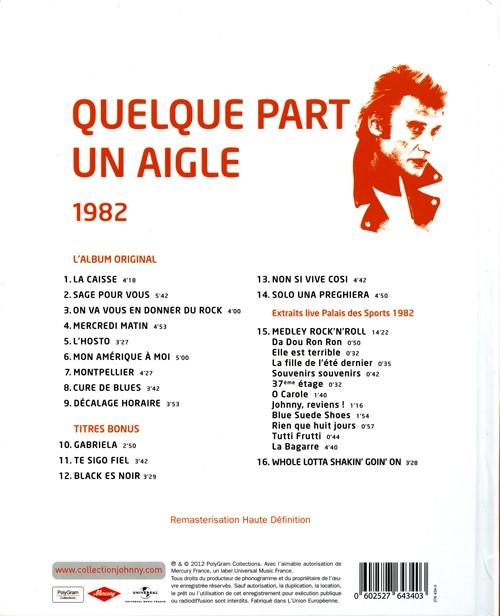 Johnny Hallyday Quelque Part Un Aigle : johnny, hallyday, quelque, aigle, Collection, Johnny, Hallyday, Quelque, Aigle, 276434-0