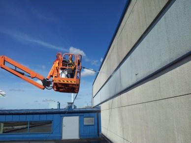 Halmstads fönsterputs- Rengöring av fasad