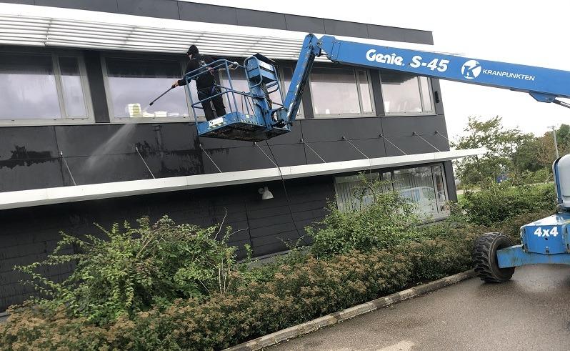 Fasadtvätt av Halmstads Fönsterputs