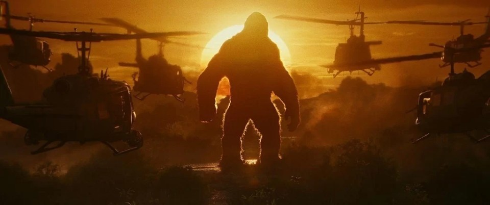 A scence from Kong: Skull island