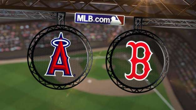 Angels at Red Sox