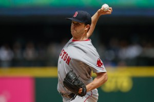Steven Wright delivers a pitch during the second inning of a game against the Seattle Mariners at Safeco Field on May 17, 2015 (Otto Greule, Jr./Getty Images)