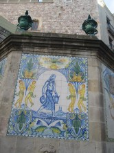 tiles - so you know it's a fountain
