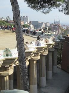 plaza atop columns