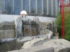 sheep and fountain