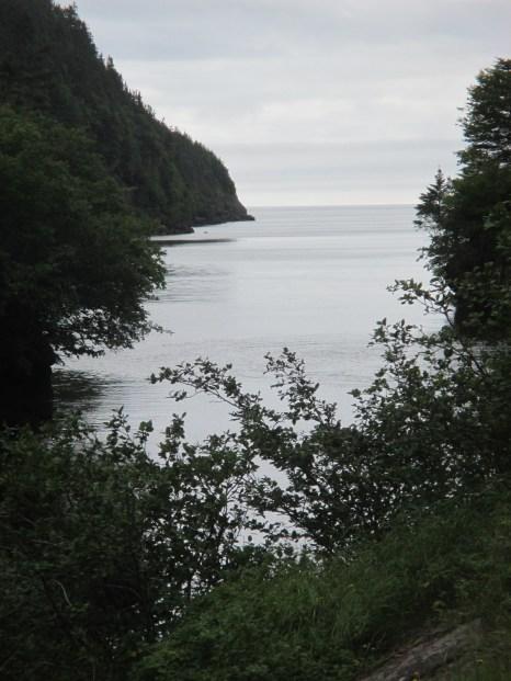 water reaches cliffs