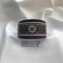halsband bloemen, paars, wit, lederen, vrolijke halsband