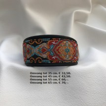 halsband, herfst kleuren, bruin, blauw