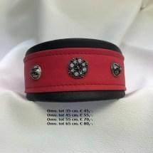 rode halsband, zwart, windhond