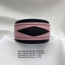 roze zwarte halsband, lederen