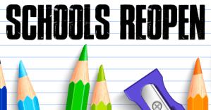 Schools ReOpen Banner