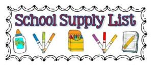 Supply List Image