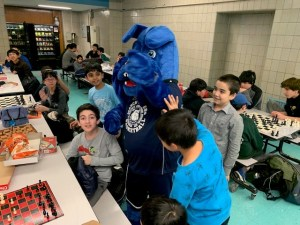 Chess Club and Barkley the Mascot