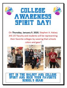 College Awareness Spirit Day Flyer