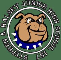 Stepen A. Halsey JHS 157 Bull dog Logo