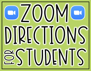 Zoom directions for students