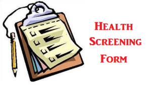 Health Screening Form