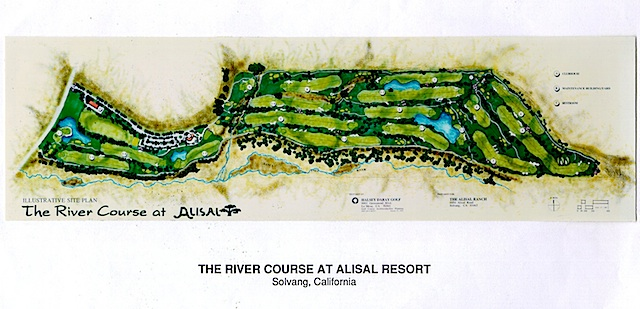 Alisal River Course Layout Plan  Halsey Design Group