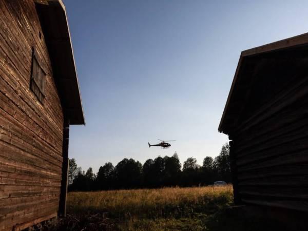 Helikopter i Fågelsjö