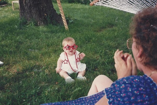Baby Hal and Mom 1986