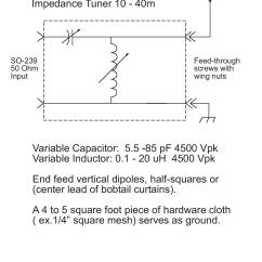 2 Ohm Wiring Diagram 97 Jeep Wrangler Stereo Efhw Tuner | Ham Radio Hawaii