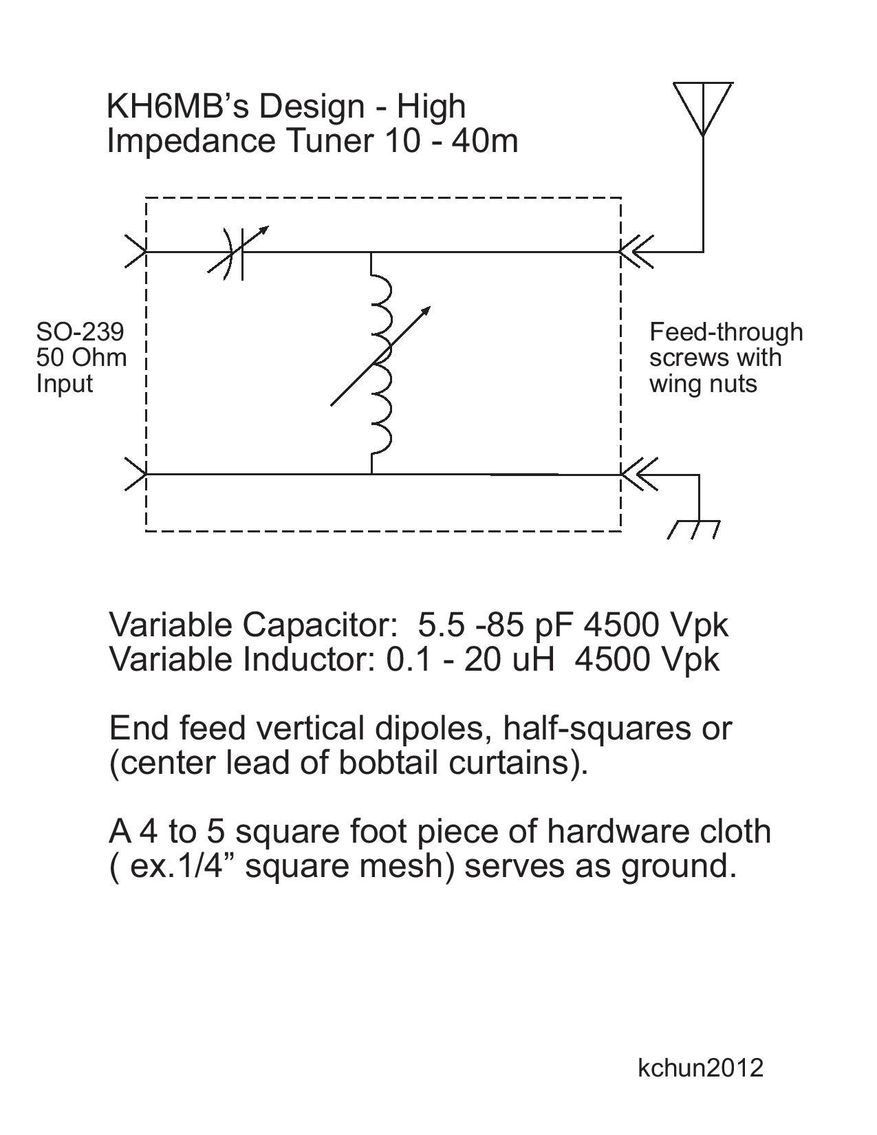 2 ohm wiring diagram 24v relay 5 pin efhw tuner | ham radio hawaii