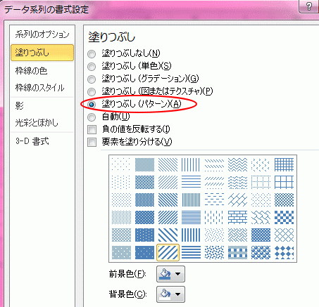 塗りつぶし(パターン)