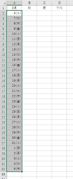 日付の表示形式を変更
