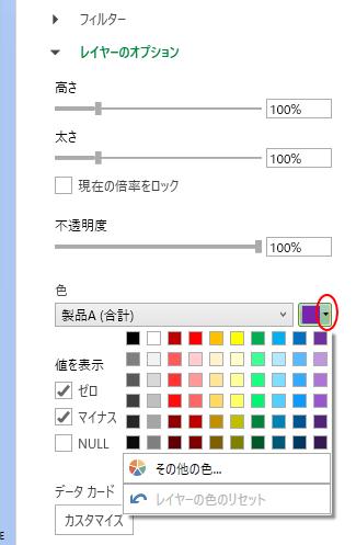 カラーボックスの表示