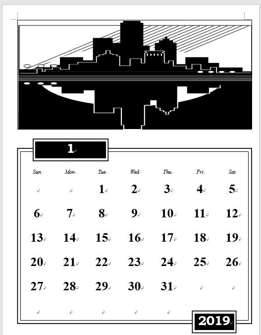 カレンダーウィザード既定