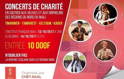 tinariwen, Kader Tarhanin concert de charité Tombouctou, Kidal, Gao Mali