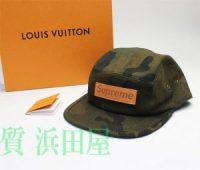 ヴィトン ルイ・ヴィトン (Louis Vuitton)× Supreme シュプリーム コラボ CASQ.5 PANELS SP CAMOUF キャップ キャップ 帽子 MP1875 迷彩 カモフラージュ カモフラ グリーン系