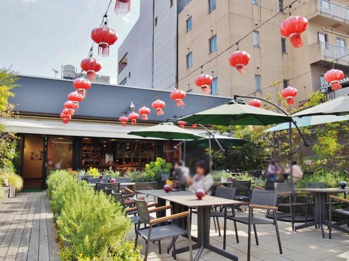 横浜博覧館のガーデンテラスカフェ