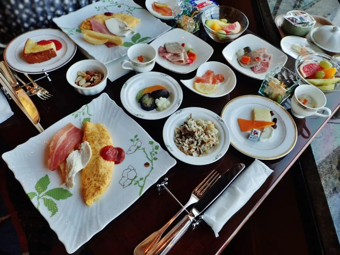 横浜ロイヤルパークホテルのクラブラウンジの朝食