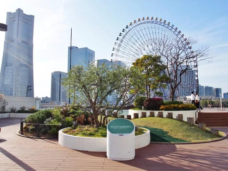 横浜ワールドポーターズの屋上庭園