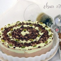 עוגת מוס שוקולד ופיסטוק