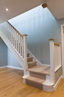 Painted Spindle Staircase Renovations   Hambledon Staircases