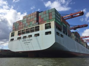 Containerschiff der Superlative