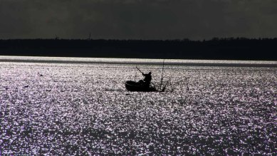 Fischer auf dem Haff