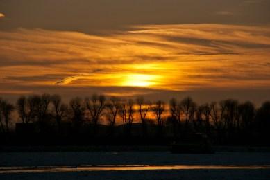 Sonnenuntergang Elbe