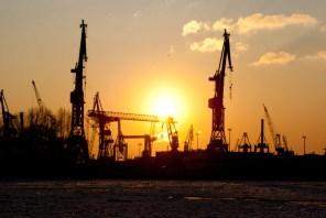 Sonnenuntergang Hafen 2012