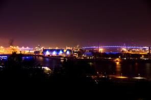 Klärwerk und Köhlbrandbrücke Hamburg Blue Port