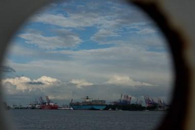 Emma Maersk und Cap San Rafael