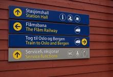 Schild Myrdal Bahnhof