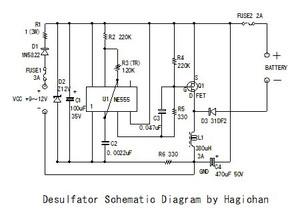 サルフェーション除去、Desulfatorの製作 Vol.4: 無線と工作と音楽と