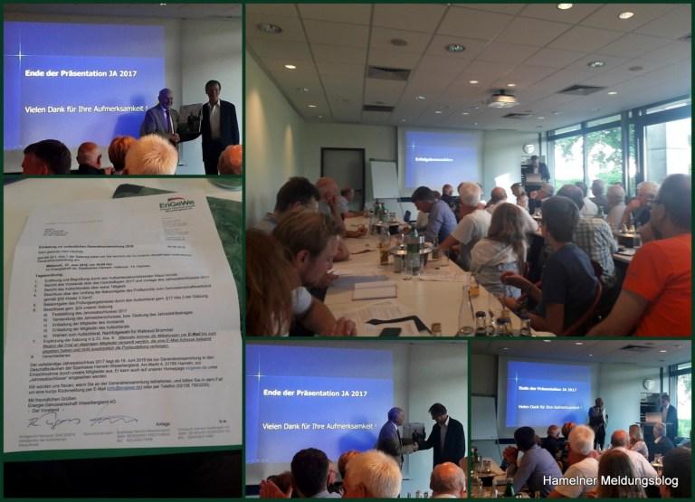 Kurzbericht Jahreshauptversammlung Energiegenossenschaft Hameln
