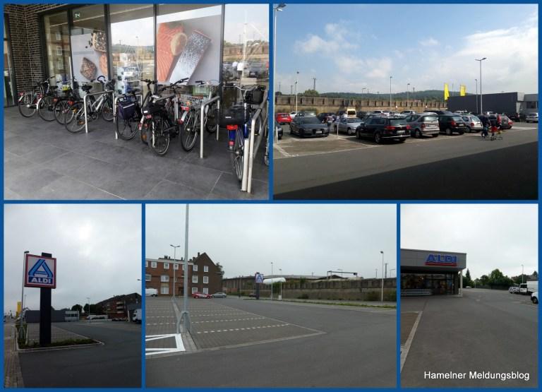 Hamelns schöne neue Einkaufswelt am Beispiel des neuen Aldi-Marktes an der Hildesheimer Straße.