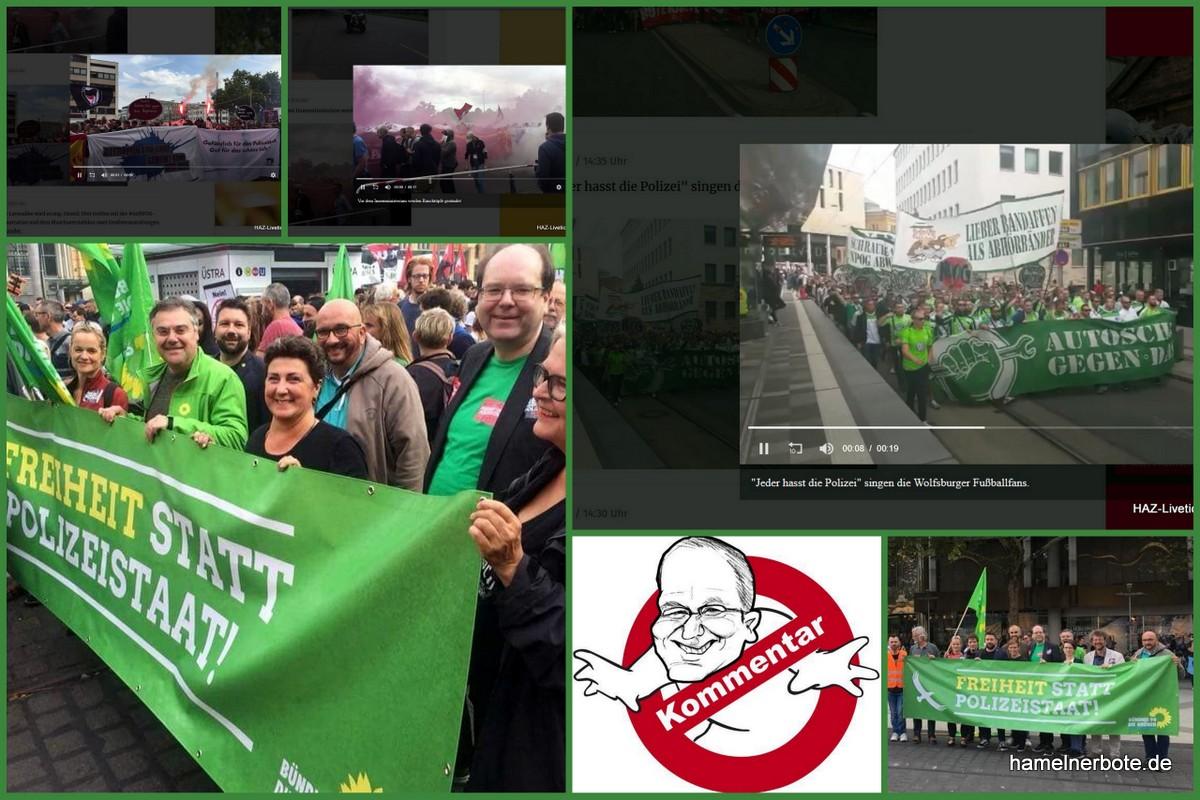 Warnruf an die Grünen in Niedersachsen: Wer unverhältnismäßig übertreibt, beschädigt sich und die Sache, um die es geht!